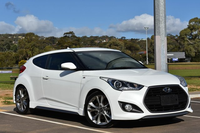 Used Hyundai Veloster FS4 Series II SR Coupe D-CT Turbo, 2015 Hyundai Veloster FS4 Series II SR Coupe D-CT Turbo White 7 Speed Sports Automatic Dual Clutch