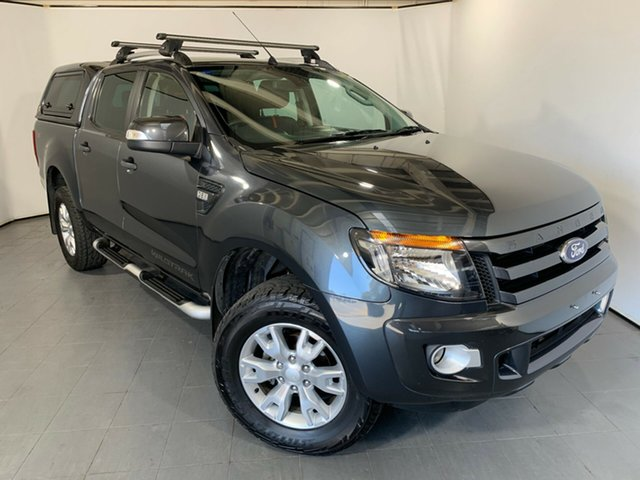 Used Ford Ranger PX Wildtrak Double Cab, 2014 Ford Ranger PX Wildtrak Double Cab Grey 6 Speed Manual Utility