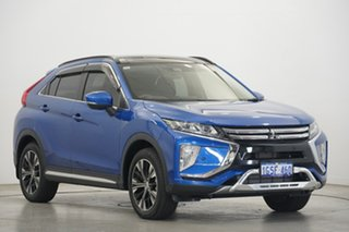 2017 Mitsubishi Eclipse Cross YA MY18 Exceed AWD Lightning Blue 8 Speed Constant Variable Wagon