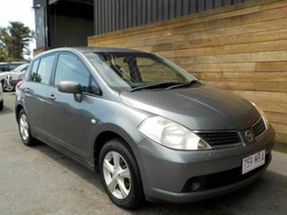 2009 Nissan Tiida C11 MY07 ST Grey 4 Speed Automatic Hatchback.