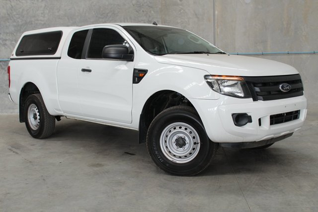 Used Ford Ranger PX XL Super Cab 4x2 Hi-Rider, 2013 Ford Ranger PX XL Super Cab 4x2 Hi-Rider White 6 Speed Sports Automatic Cab Chassis