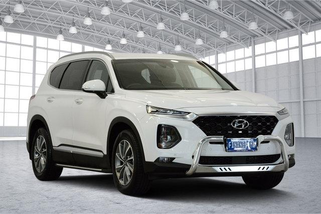 Used Hyundai Santa Fe TM MY19 Elite, 2018 Hyundai Santa Fe TM MY19 Elite White 8 Speed Sports Automatic Wagon