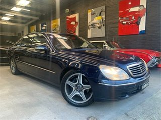 2000 Mercedes-Benz S500 V220 Tanzanite Blue Automatic Sedan.