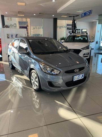 Demo Hyundai Accent RB6 MY19 Sport, 2019 Hyundai Accent RB6 MY19 Sport Lake Silver 6 Speed Automatic Hatchback