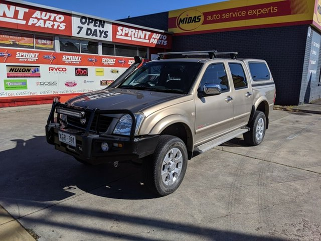 Used Holden Rodeo RA MY05 LT Crew Cab, 2005 Holden Rodeo RA MY05 LT Crew Cab Gold 5 Speed Manual Utility