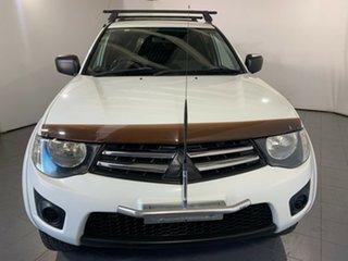 2012 Mitsubishi Triton MN MY13 GLX Double Cab White 4 Speed Sports Automatic Utility.