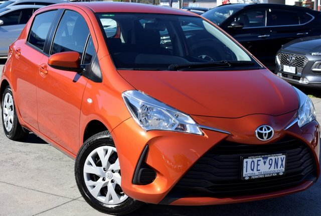 Used Toyota Yaris NCP130R Ascent, 2019 Toyota Yaris NCP130R Ascent Orange 4 Speed Automatic Hatchback