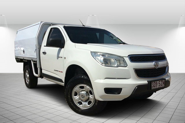 Used Holden Colorado RG MY13 DX, 2012 Holden Colorado RG MY13 DX White 5 Speed Manual Cab Chassis
