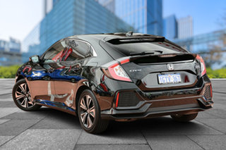 2018 Honda Civic 10th Gen MY18 VTi-LX Crystal Black 1 Speed Constant Variable Hatchback.