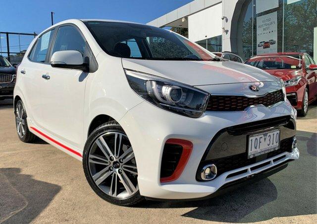 Demo Kia Picanto JA MY19 GT-Line, 2019 Kia Picanto JA MY19 GT-Line Clear White 4 Speed Automatic Hatchback