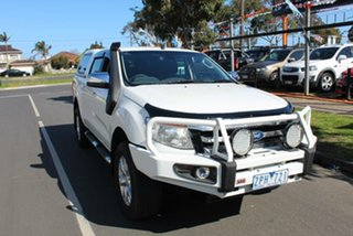2013 Ford Ranger PX XLT 3.2 (4x4) White 6 Speed Manual Dual Cab Utility.