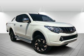 2018 Mitsubishi Triton MQ MY18 Exceed Double Cab White 5 Speed Sports Automatic Utility.