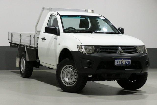 Used Mitsubishi Triton MN MY13 GL, 2013 Mitsubishi Triton MN MY13 GL White 5 Speed Manual Cab Chassis