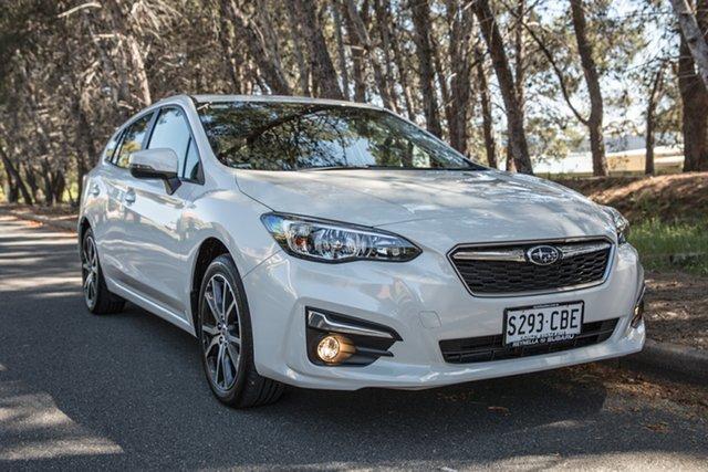 Demo Subaru Impreza G5 MY19 2.0i Premium CVT AWD, 2019 Subaru Impreza G5 MY19 2.0i Premium CVT AWD Crystal White Pearl 7 Speed Constant Variable