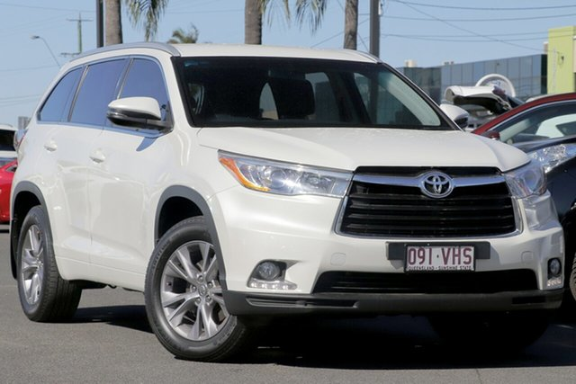 Used Toyota Kluger GSU55R GXL AWD, 2014 Toyota Kluger GSU55R GXL AWD Pearl White 6 Speed Sports Automatic Wagon