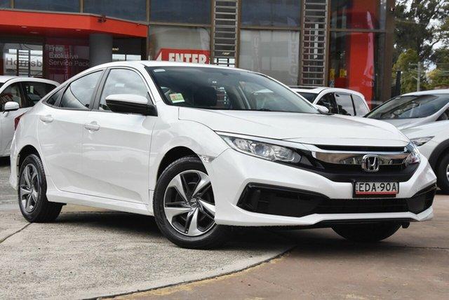 Demo Honda Civic 10th Gen MY19 VTi, 2019 Honda Civic 10th Gen MY19 VTi Platinum White 1 Speed Constant Variable Sedan