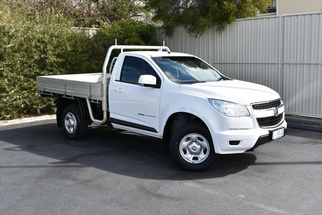 Used Holden Colorado RG MY16 LS, 2016 Holden Colorado RG MY16 LS Summit White 6 Speed Manual Cab Chassis