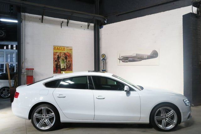 Used Audi A5 8T MY15 (N5) Sportback S Tronic Quattro, 2014 Audi A5 8T MY15 (N5) Sportback S Tronic Quattro White 7 Speed Sports Automatic Dual Clutch