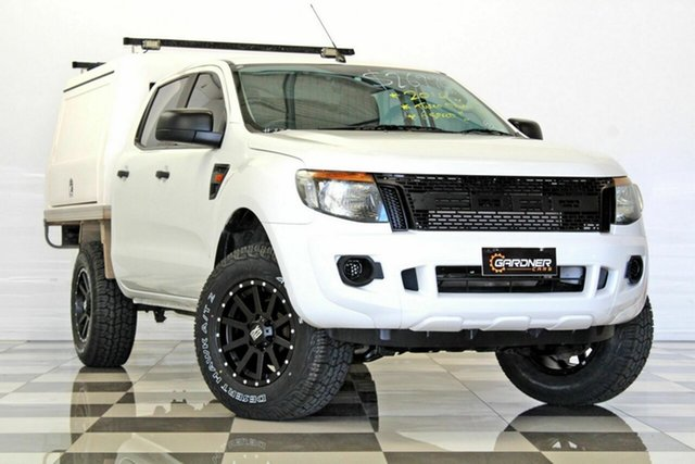 Used Ford Ranger PX XL 2.2 Hi-Rider (4x2), 2014 Ford Ranger PX XL 2.2 Hi-Rider (4x2) White 6 Speed Manual Crew Cab Pickup