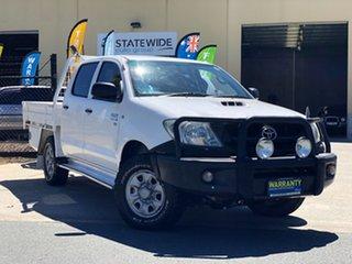 2011 Toyota Hilux KUN26R MY10 SR White 5 Speed Manual Utility.