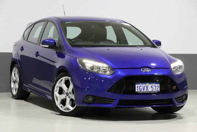 Used Ford Focus LW MK2 MY14 ST, 2014 Ford Focus LW MK2 MY14 ST Blue 6 Speed Manual Hatchback