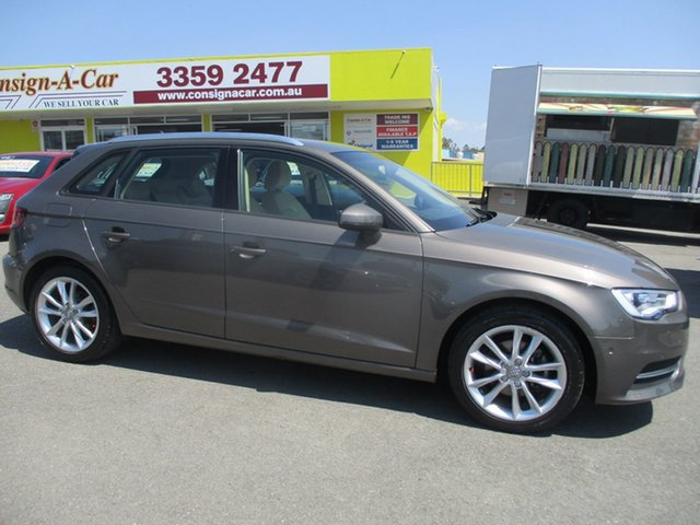 Used Audi A3 8V Attraction Sportback S Tronic, 2014 Audi A3 8V Attraction Sportback S Tronic Brown 7 Speed Sports Automatic Dual Clutch Hatchback