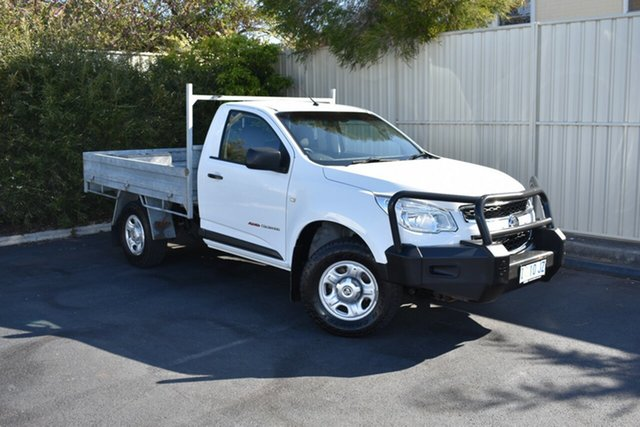 Used Holden Colorado RG MY15 DX, 2015 Holden Colorado RG MY15 DX White 6 Speed Manual Cab Chassis