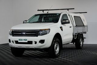 2014 Ford Ranger PX XL 4x2 Hi-Rider White 6 speed Automatic Cab Chassis.