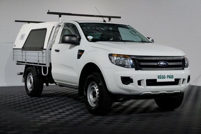 Used Ford Ranger PX XL 4x2 Hi-Rider, 2014 Ford Ranger PX XL 4x2 Hi-Rider White 6 speed Automatic Cab Chassis