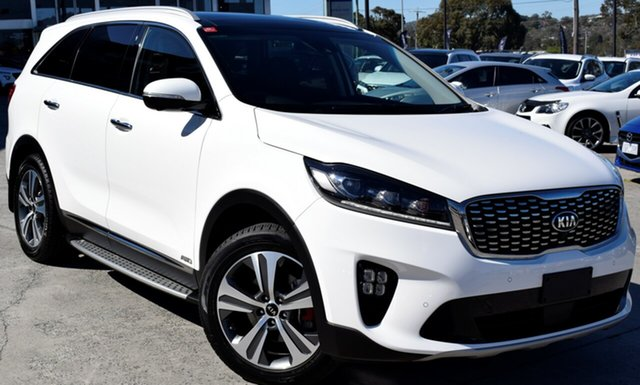 Used Kia Sorento UM MY19 GT-Line AWD, 2018 Kia Sorento UM MY19 GT-Line AWD Clear White 8 Speed Sports Automatic Wagon