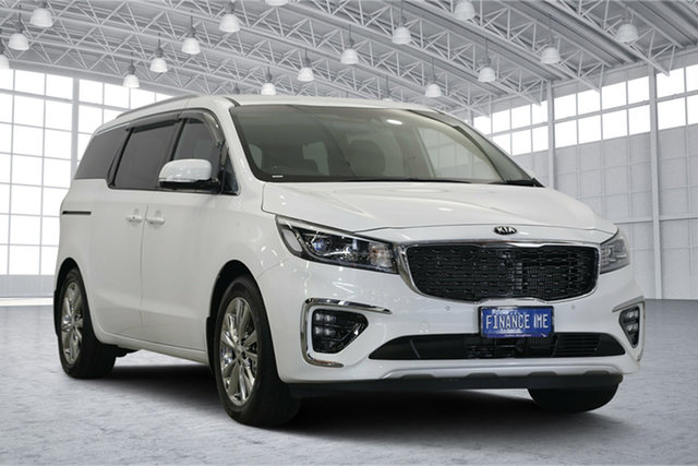 Used Kia Carnival YP MY19 Platinum, 2019 Kia Carnival YP MY19 Platinum Snow White Pearl 8 Speed Sports Automatic Wagon