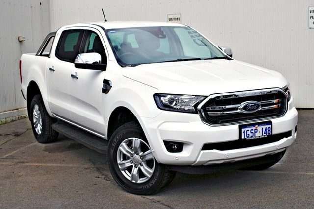 Demo Ford Ranger  XLT Pick-up Double Cab, 2019 Ford Ranger PX MKIII 2019.0 XLT Pick-up Double Cab Arctic White 6 Speed Sports Automatic