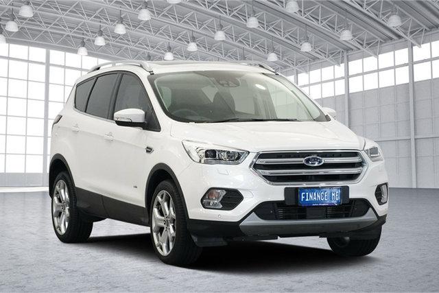 Used Ford Escape ZG 2018.75MY Titanium AWD, 2018 Ford Escape ZG 2018.75MY Titanium AWD White Platinum 6 Speed Sports Automatic Wagon