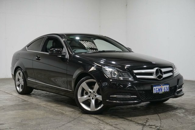 Used Mercedes-Benz C-Class C204 MY13 , 2013 Mercedes-Benz C-Class C204 MY13 Black 7 Speed Sports Automatic Coupe