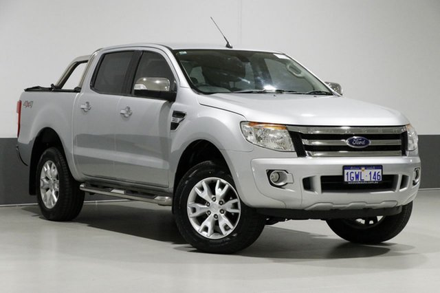 Used Ford Ranger PX XLT 3.2 (4x4), 2014 Ford Ranger PX XLT 3.2 (4x4) Silver 6 Speed Automatic Dual Cab Utility
