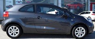 2013 Kia Rio UB MY13 S Grey 6 Speed Manual Hatchback.