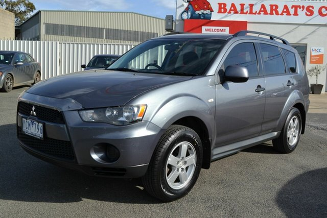 Used Mitsubishi Outlander ZH MY10 LS, 2010 Mitsubishi Outlander ZH MY10 LS Grey 6 Speed CVT Auto Sequential Wagon