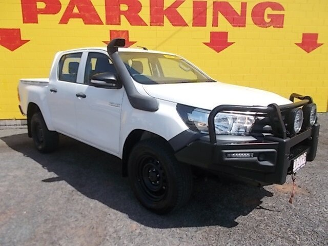 Used Toyota Hilux GUN125R Workmate Double Cab, 2016 Toyota Hilux GUN125R Workmate Double Cab White 6 Speed Manual Utility