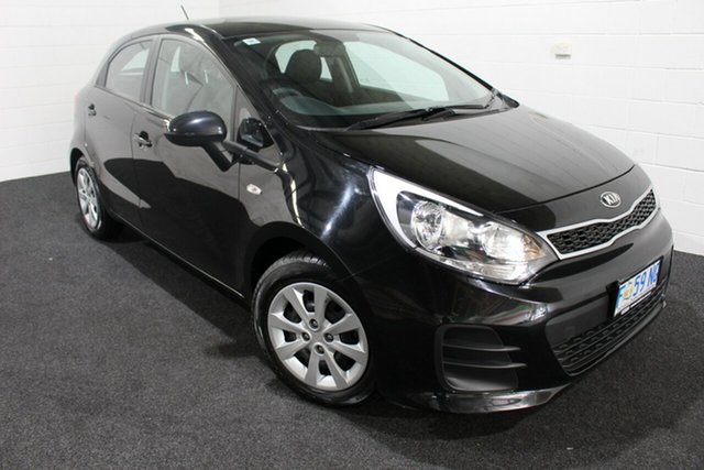 Used Kia Rio UB MY16 S, 2016 Kia Rio UB MY16 S Black 6 Speed Manual Hatchback