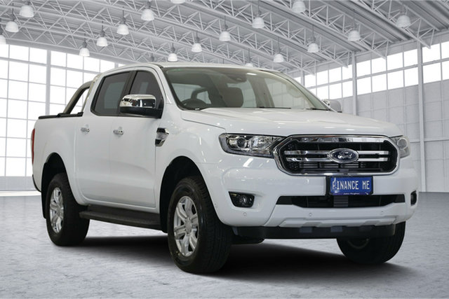 Used Ford Ranger PX MkIII 2019.00MY XLT Pick-up Double Cab, 2018 Ford Ranger PX MkIII 2019.00MY XLT Pick-up Double Cab Frozen White 6 Speed Manual Utility