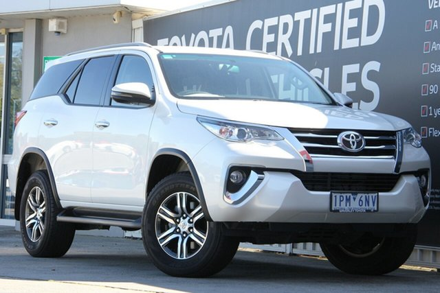 Used Toyota Fortuner GUN156R GXL, 2018 Toyota Fortuner GUN156R GXL Crystal Pearl 6 Speed Automatic Wagon