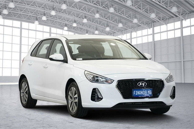 Used Hyundai i30 PD2 MY19 Elite, 2018 Hyundai i30 PD2 MY19 Elite Polar White 6 Speed Sports Automatic Hatchback