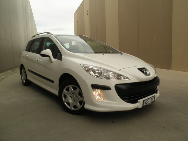Used Peugeot 308 T7 XSE Touring, 2008 Peugeot 308 T7 XSE Touring White Silk 6 Speed Manual Wagon