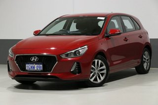 2018 Hyundai i30 PD2 MY19 Active Red 6 Speed Automatic Hatchback.
