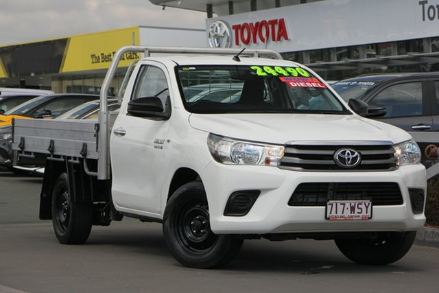 Used Toyota Hilux GUN122R Workmate 4x2, 2015 Toyota Hilux GUN122R Workmate 4x2 Glacier White 5 Speed Manual Cab Chassis