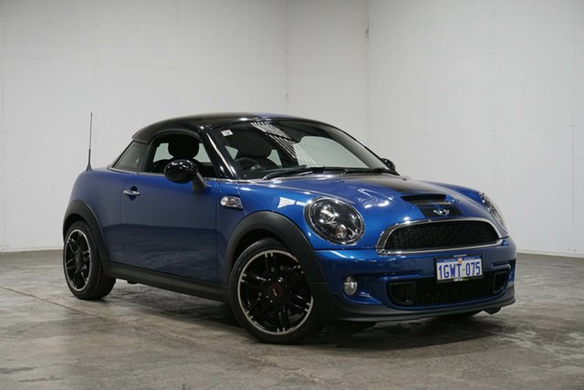 Used Mini Coupe R58 Cooper S, 2012 Mini Coupe R58 Cooper S Blue 6 Speed Sports Automatic Coupe