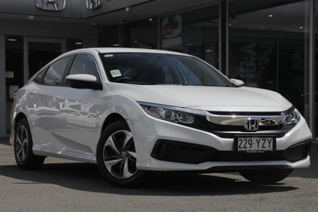 Demo Honda Civic 10th Gen MY19 VTi, 2019 Honda Civic 10th Gen MY19 VTi Platinum White 1 Speed Constant Variable Hatchback