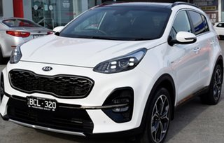 2018 Kia Sportage QL MY19 GT-Line AWD Clear White 8 Speed Sports Automatic Wagon.