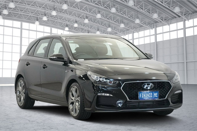 Used Hyundai i30 PD.3 MY19 N Line D-CT Premium, 2018 Hyundai i30 PD.3 MY19 N Line D-CT Premium Phantom Black 7 Speed Sports Automatic Dual Clutch
