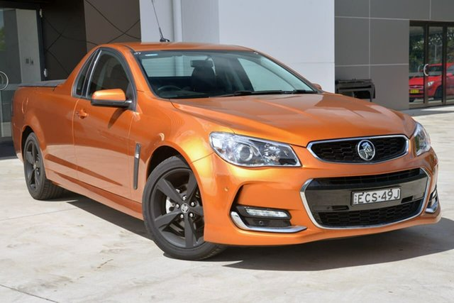 Used Holden Ute VF II MY17 SV6 Ute, 2017 Holden Ute VF II MY17 SV6 Ute Orange 6 Speed Sports Automatic Utility